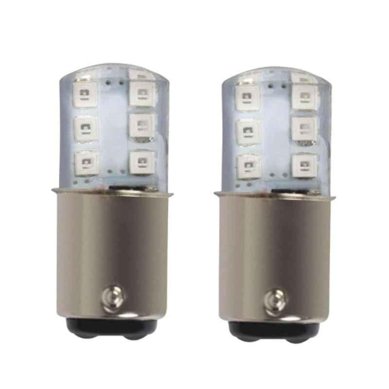 AllExtreme EXPB12R 2 Pcs 12 LED 3W Red Silica Gel Parking Light Set