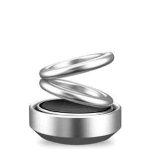 Love4ride Silver Metal Ring Shape Car Air Freshener