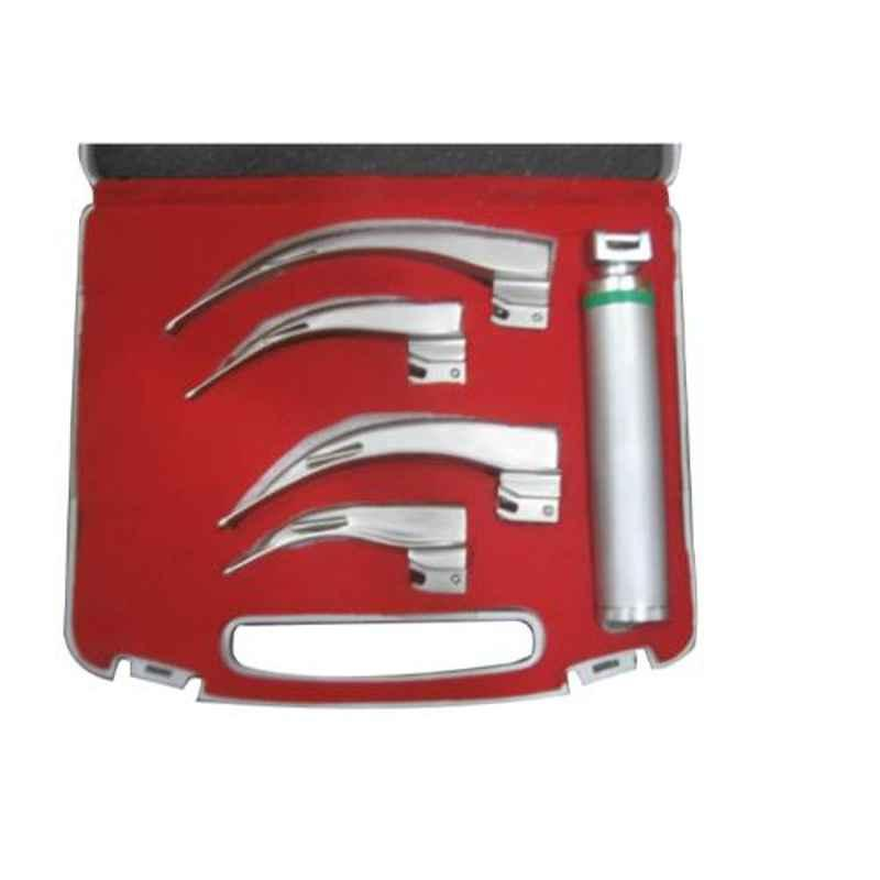 Skybound Stainless Steel Fiber Optic Adult, Macintosh Laryngoscope, SK-1009