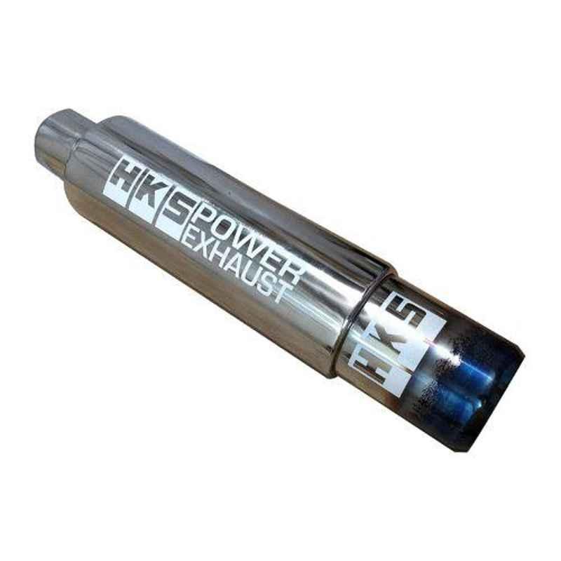 AutoPop Silver & Blue HKS Performance & Sound Enhancement Silencer Exhaust for Maruti Ignis 1.3L Zeta