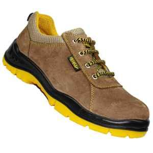 Coffer Safety M1027 Leather Steel Toe Grey Safety Shoes, Size: 7