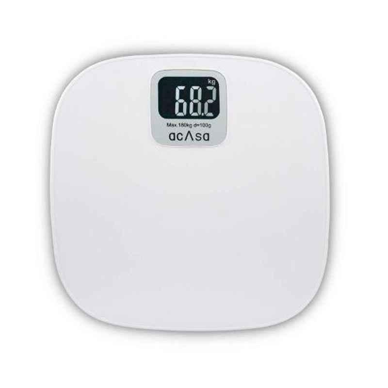 Acasa Digiscale Flagship 180kg White Digital Weighing Machine
