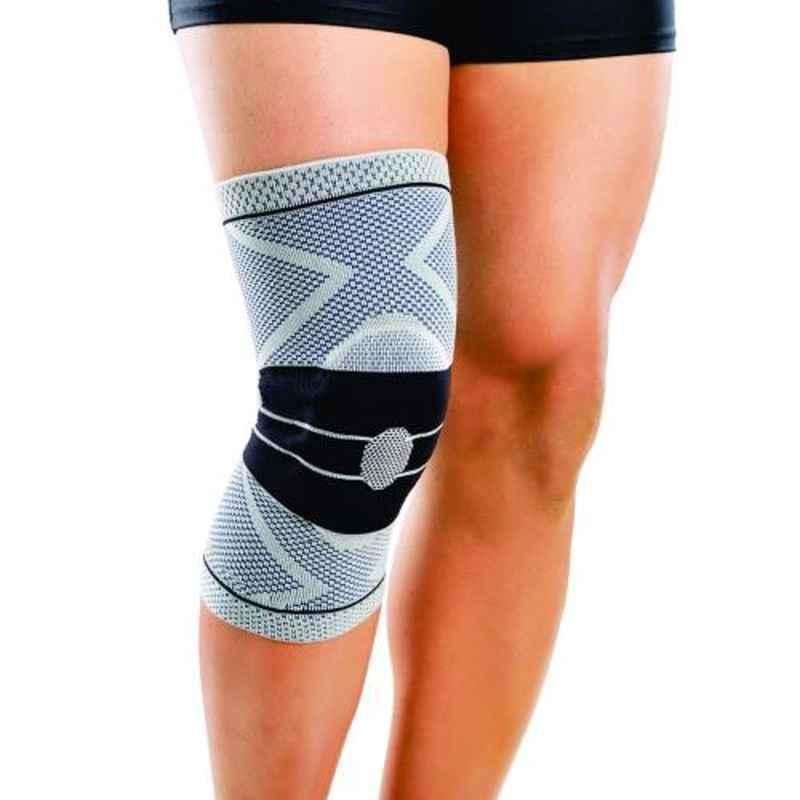 Dyna 3D Medium BLACK Knitted Knee Brace (Left), 0925-023