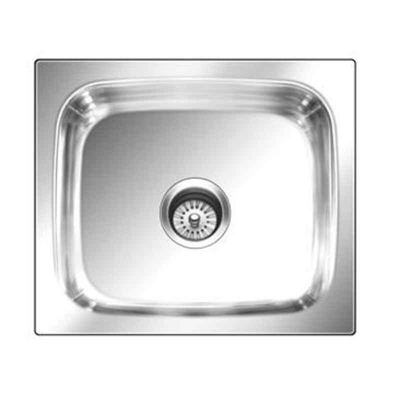 Nirali Grace Plain Glossy Finish Kitchen Sink, Bowl Size: 560x410x254 mm