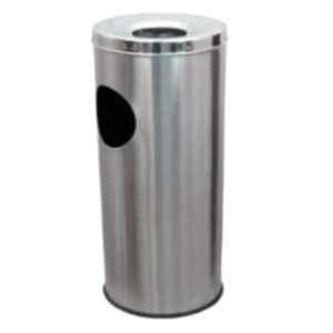 Delta Solutions 10x28 inch Stainless Steel Ashtray Dustbin