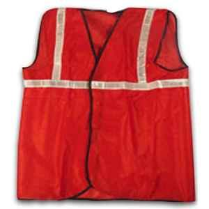 Kasa Life 2 Inch Cloth Type Red Reflective Safety jacket