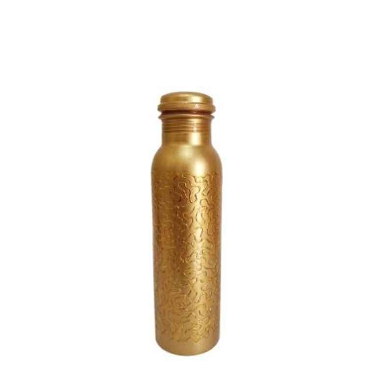 Healthchoice 1000ml Copper Golden Embroided Printed Water Bottle