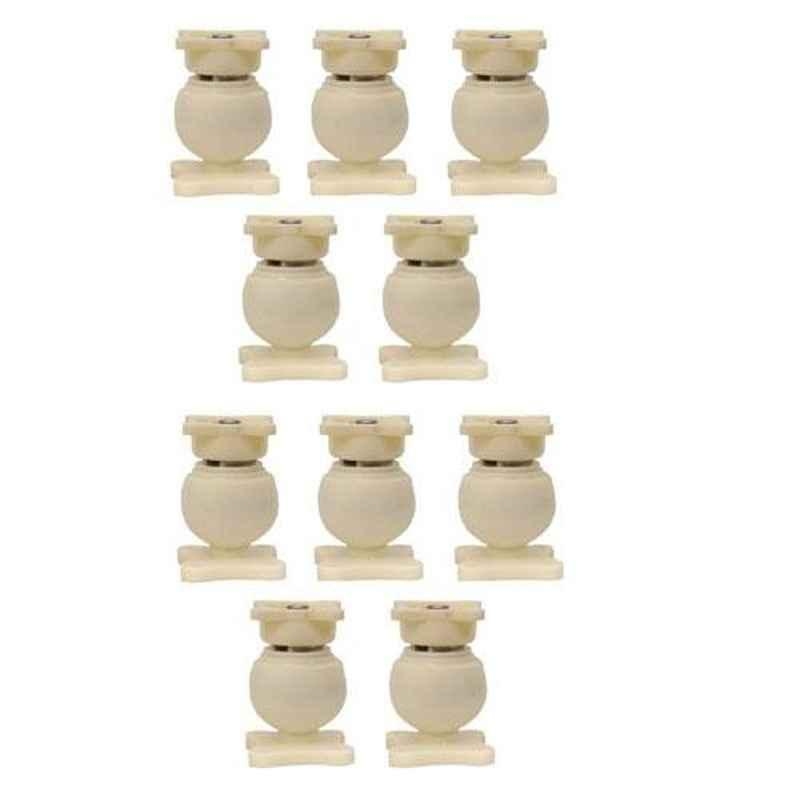 Nixnine Plastic Ivory Magnetic Door Stopper, NO-6_IVR_10PS _A (Pack of 10)