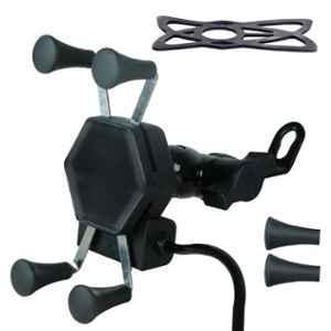 Tirewell TRWL1PH Universal 360 deg Rotation Black Mount Cell Phone Holder for Bikes