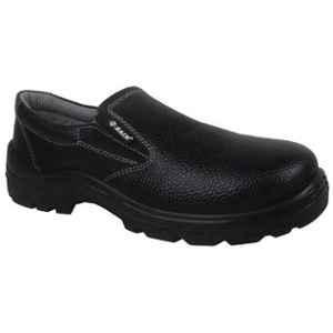 Zain Zm-08 Leather Steel Toe Black Slip-On Safety Shoes, 82337-07, Size: 6