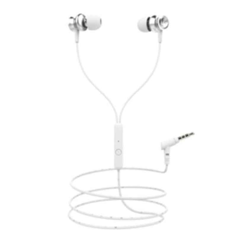 boAt Bassheads 152 White Wired Headset with Mic