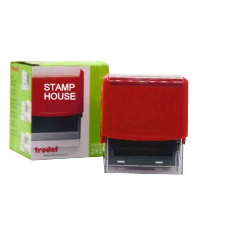 Trodat Printy 60x40mm Plastic Red Self Ink Stamp, 3927