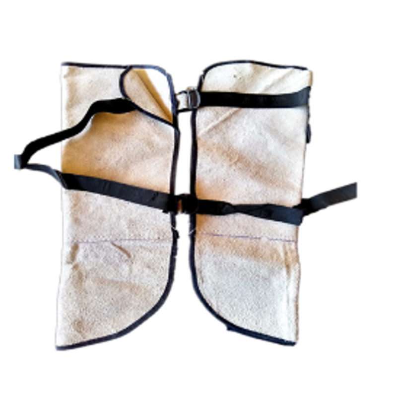 SRJ Leather Heat Resistance Leg Guard (Pack of 10)