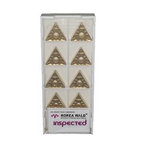 Korea Wald 10 Pcs 0.4mm Tungsten Carbide CVD Turning Insert Box, TNMG-160404