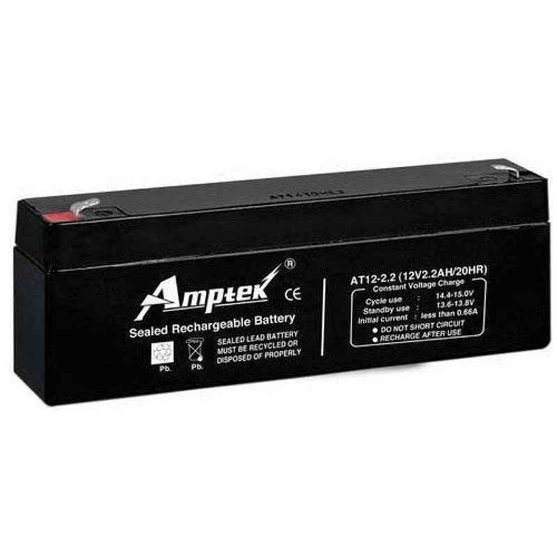 Amptek 12V 2.2Ah Rechargeable SMF Battery