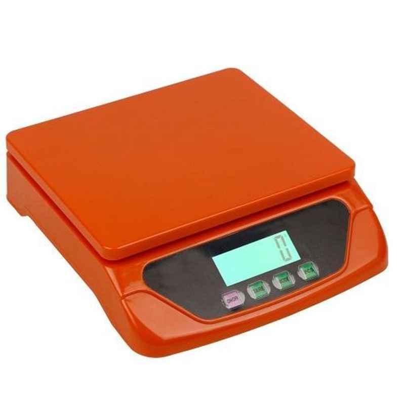 Virgo 30kg Orange Digital Kitchen Multi-Purpose Weighing Machine, TS-500 30KG ORANGE