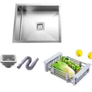 Crocodile 18x16x10 inch Single Bowl Stainless Steel Square Hi Gloss Finish Kitchen Sink