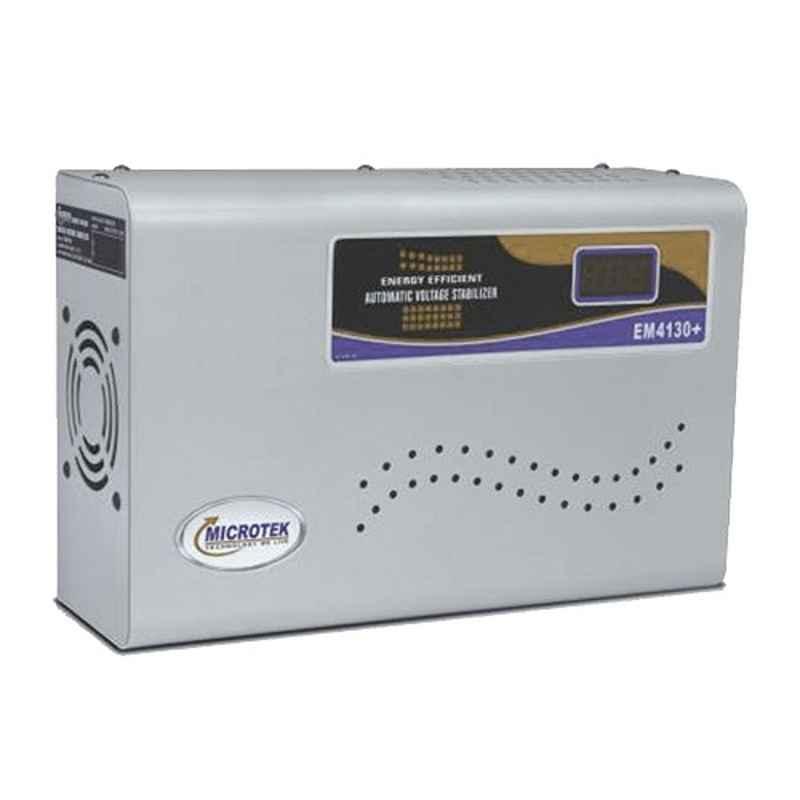 Microtek EM 4130+ 130-300V Digital Voltage Stabilizer for Upto 1.5 Ton AC with 3 Years Warranty