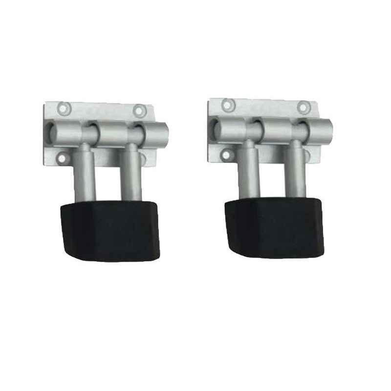 Smart Shophar 3 inch Stainless Steel Silver Rolex Door Stopper, SHA40ST-ROLX-SL03-P2 (Pack of 2)
