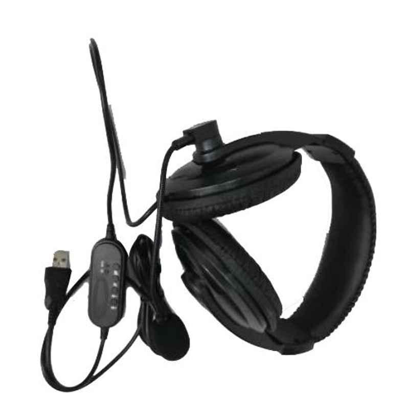 Lapcare LP-400 Black On the Ear Wired Headphone with Mic