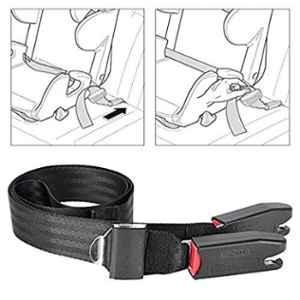 Amazeus Black Kids Safety Car Seat Fixing Belt