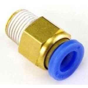 Techno PC Male Connector Push Type Fitting M5-6 Thread Size 6 mm