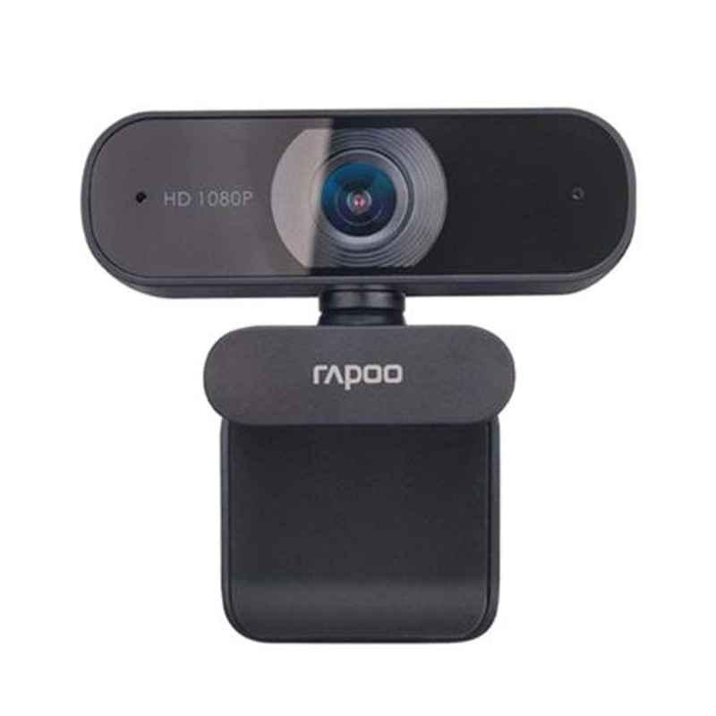 Rapoo C260 1080P Black Full HD Webcam with Noise Cancellation Mic