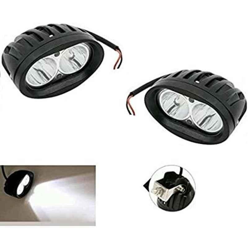 AOW (20W) Oval Projector Fog Light Auxiliary Spot LED Light Off-Road Driving Lights LED Fog Lights for Maruti Suzuki Kizashi (Pack of 2)