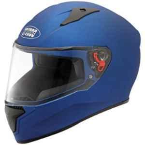 Studds Thunder Matt Blue Plain Helmet with Mirror Visor, Size: (L, 580 mm)