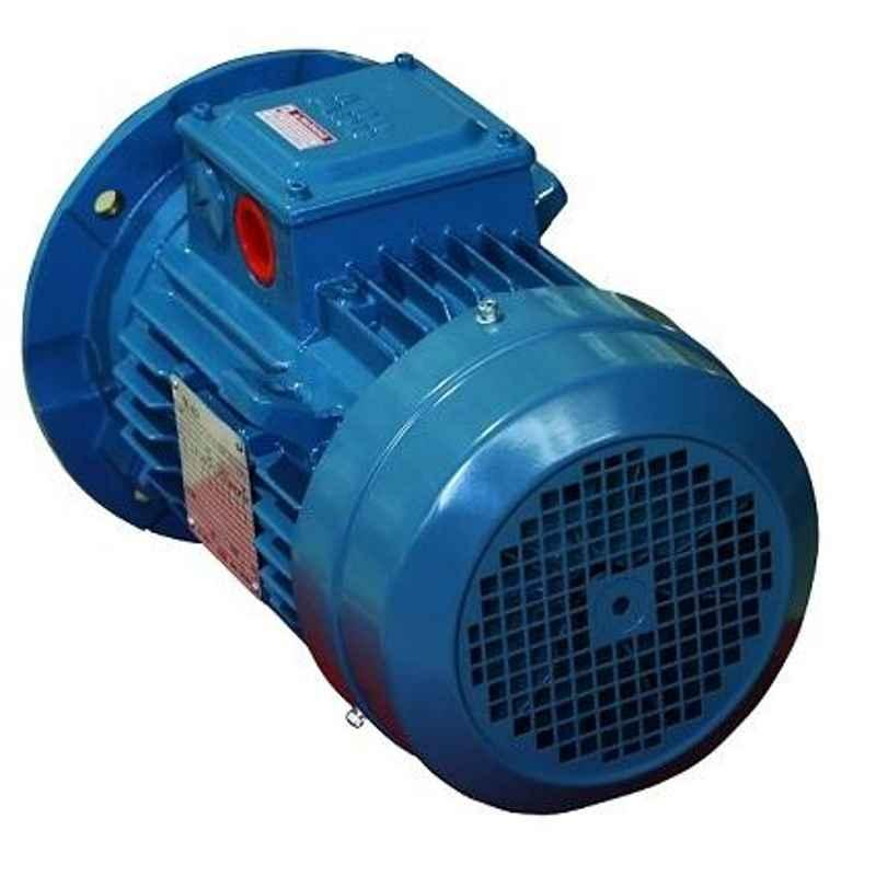 ABB M2BAX80MB6 IE2 3 Phase 0.55kW 0.75HP 415V 6 Pole Flange Mounted Cast Iron Induction Motor, 3GBA083320-BSCIN