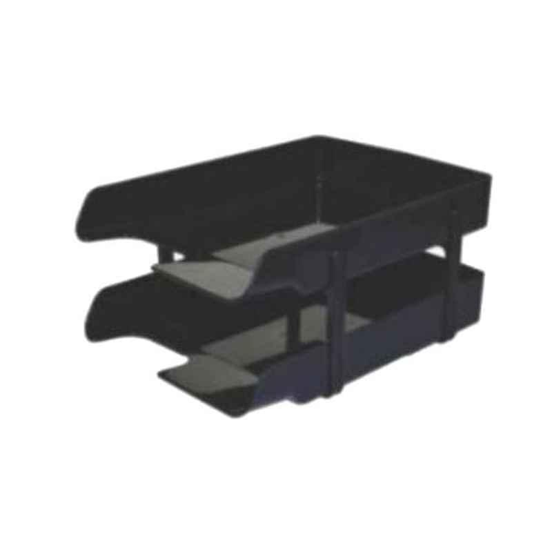 Omega 2 Pcs Black Letra Office Tray Set, 1757/B