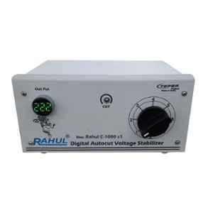 Rahul C-1000 c1 1kVA 4A 90-260V Copper Autocut Voltage Stabilizer for Shop, Desert Coolers & Mainline