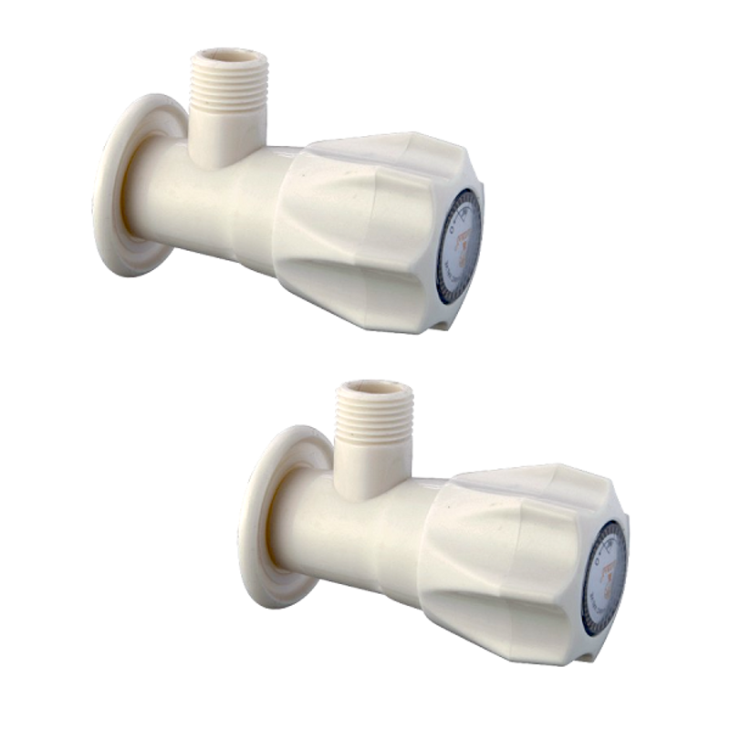 Natraj ABS Angle Faucet With Wall Flange, ABS4318 (Pack of 2)