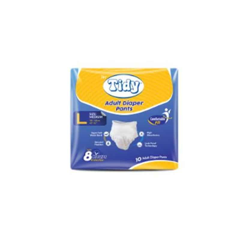 Tidy 60 Pcs 100-140cm Large Adult Diapers, TAPUD-L-6 (Pack of 6)