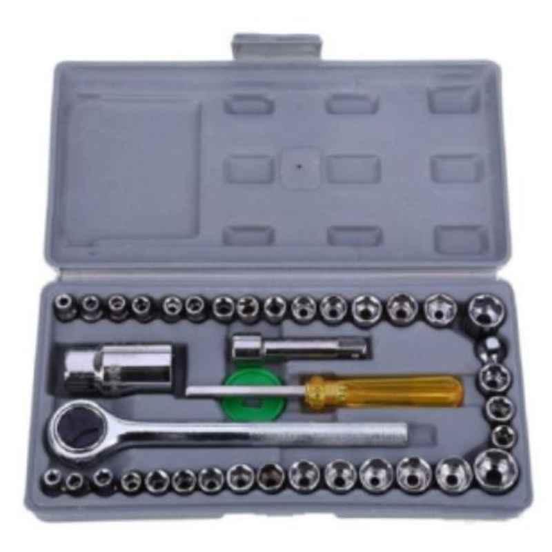 GSK Cut 40 Pcs Combination Wrench Socket Set with Rachet Handle