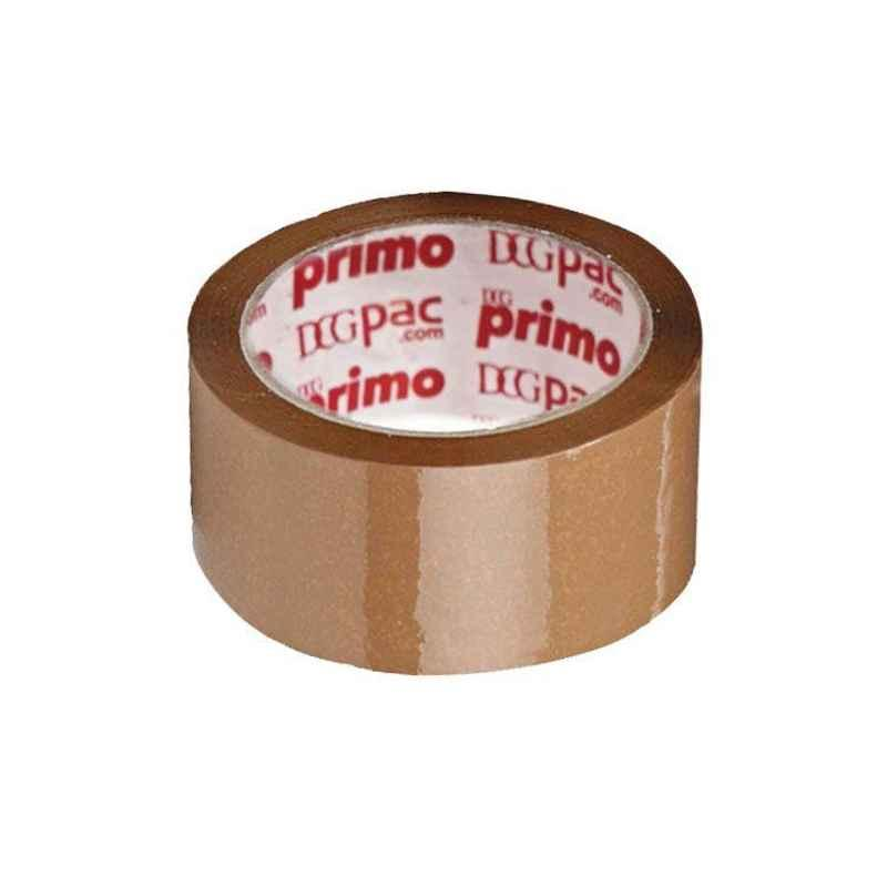 Primo 72mm 40 micron 100m Brown Bopp Tape (Pack of 8)