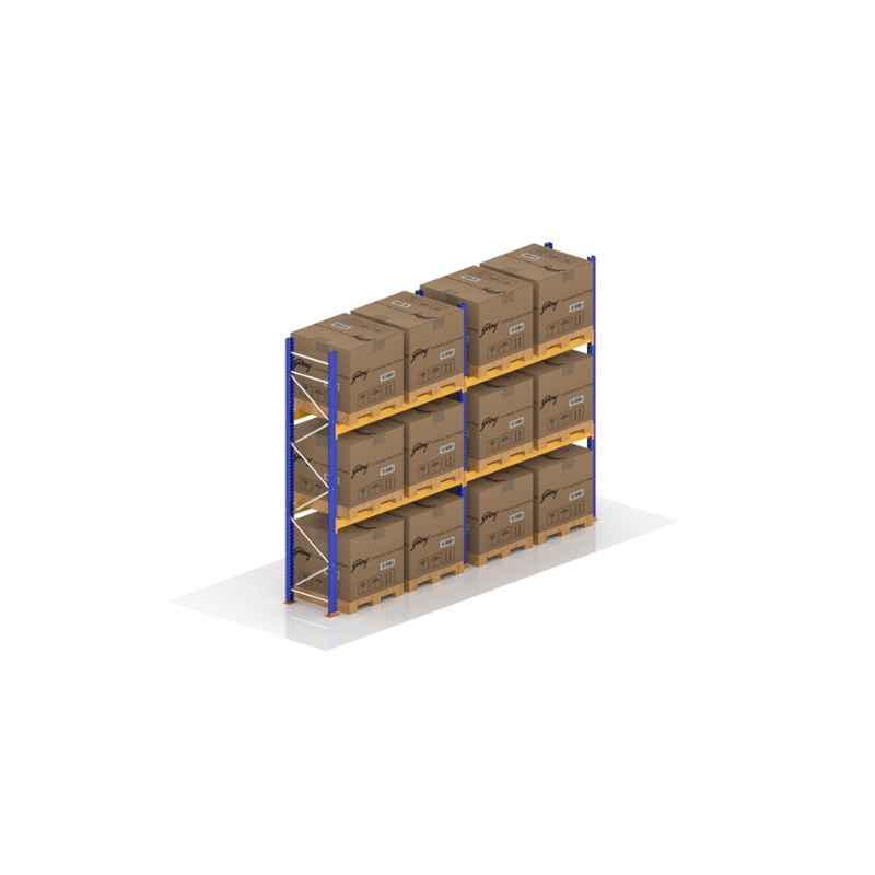 Godrej 3.5x2.7x1m 2 Layer Industrial Storage Rack, Load Capacity: 8000 Kg