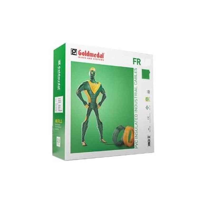 Goldmedal 0.75 Sqmm 90m Green Flexible FR PVC Wire, 06101GREN