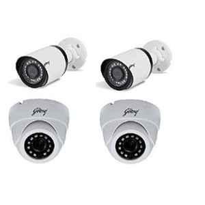 Godrej SeeThru 2MP HD Infrared CCTV Camera, GODREJ2MP2BULLET+2DOME