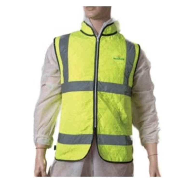 Techtion Cool Vest Multipro 350g Polyester Evaporative Cool Vest with 3M Reflective Tape, Size: M, Blue
