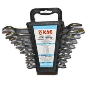 Kag 8 Pcs Double Open End Spanner Kit, 704