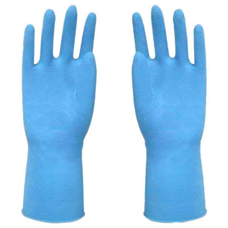 Surf 621U-45 Blue Rubber Hand Gloves (Pack of 12)