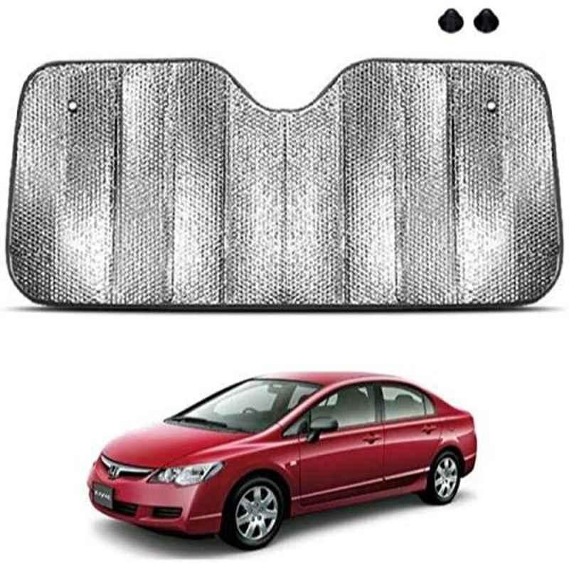 Viva City Silver PVB & Aluminium Foil Car Backside Windshield Sunshade