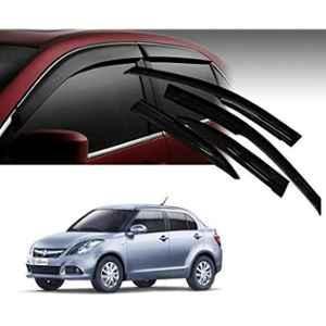 Cranzo 4 Pcs Car Rain & Wind Door Visor Side Window for Maruti Suzuki Swift Dzire Zxi