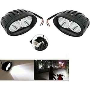 AOW (2 LED) 20W Oval Projector Fog Light Auxiliary Spot LED Light Off-Road Driving Lights LED Fog Lights for Bajaj Pulsar AS 200(Pack of 2)