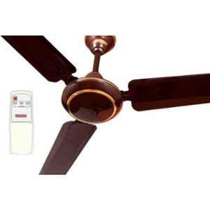 Sameer 48W Brown Ceiling Fan with Remote Control, Sweep: 1200 mm