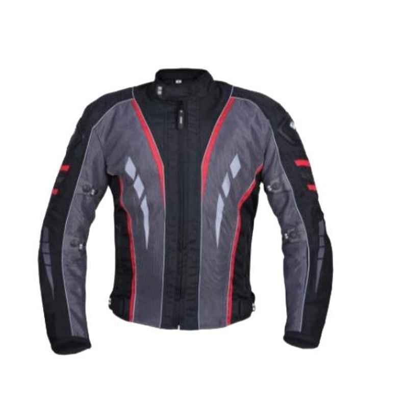 Biking Brotherhood Red Rubberized Navigator Jacket, Size: Small