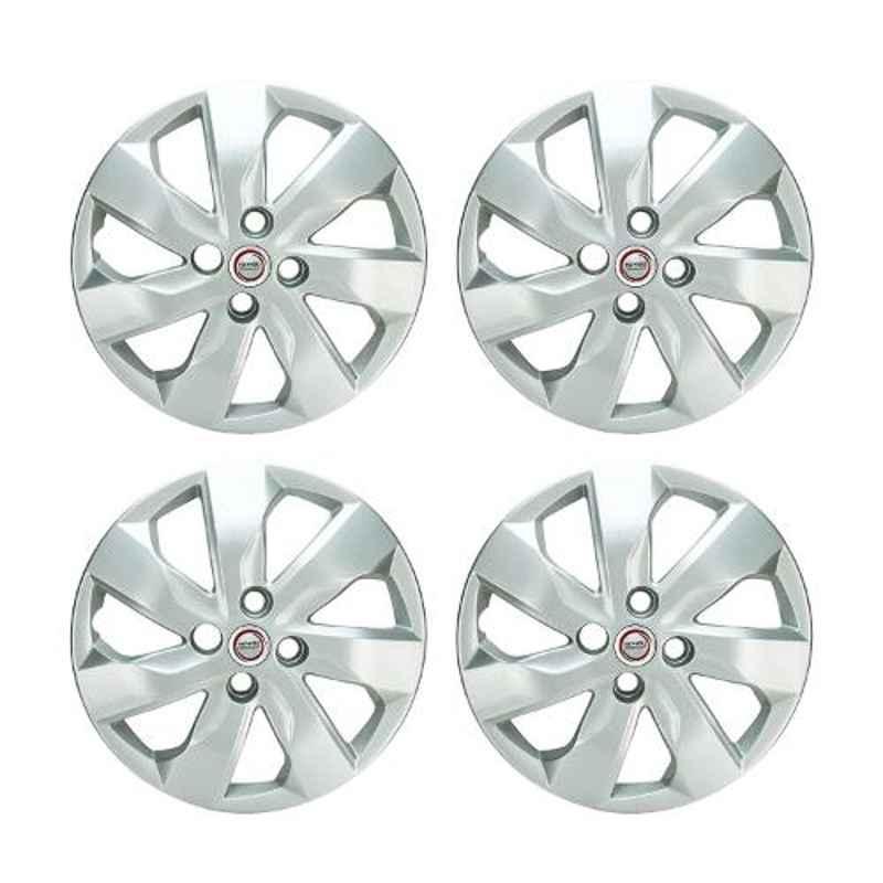 Hotwheelz 4 Pcs 15 inch Silver Wheel Cover Set for Honda Mobilio, HWWC_MOBILIO_15