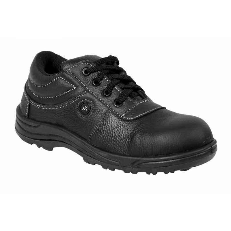 JK Steel JKPB056BLK Steel Toe Black Safety Shoes, Size: 8
