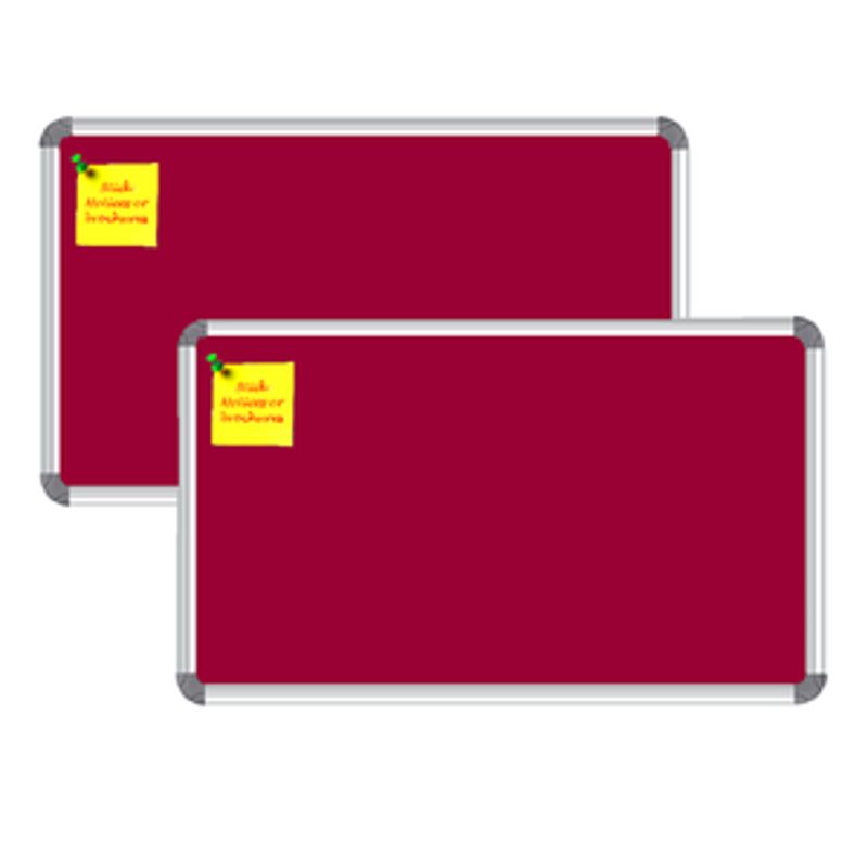 Nechams Notice Board Deluxe Combo Pack of 2 units Color Maroon NBMRN21UF2PK